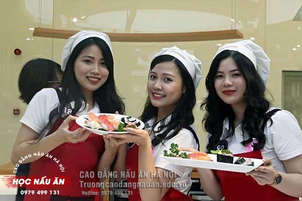 khóa học làm sushi tphcm